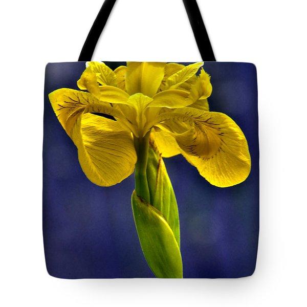 Wild Yellow Iris Flower Tote Bag