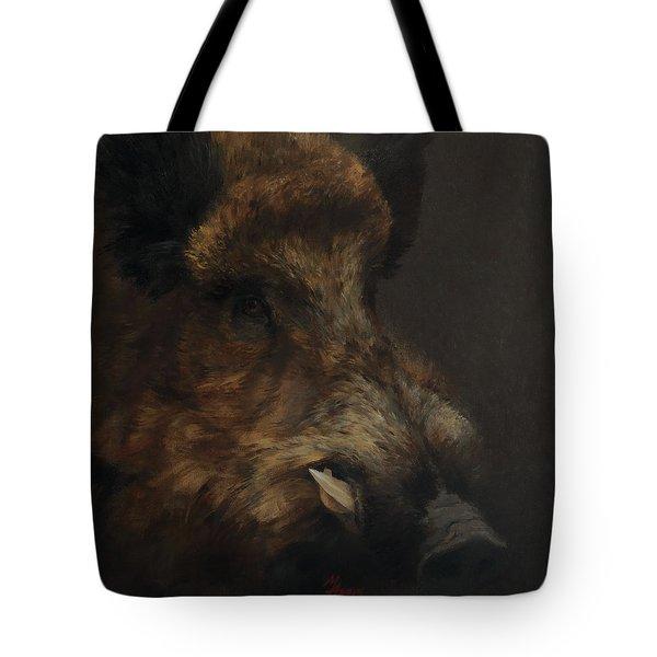 Wildboar Portrait Tote Bag