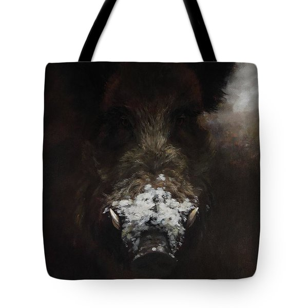 Wildboar With Snowy Snout Tote Bag
