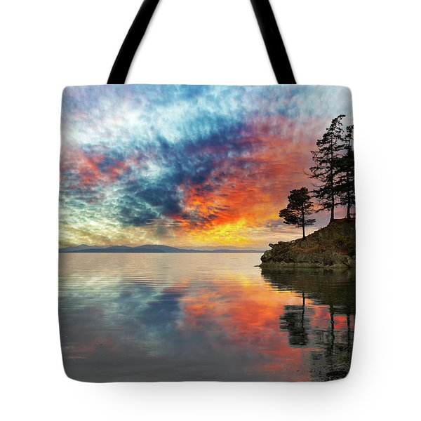 Wildcat Cove In Washington State At Sunset Tote Bag by David Gn