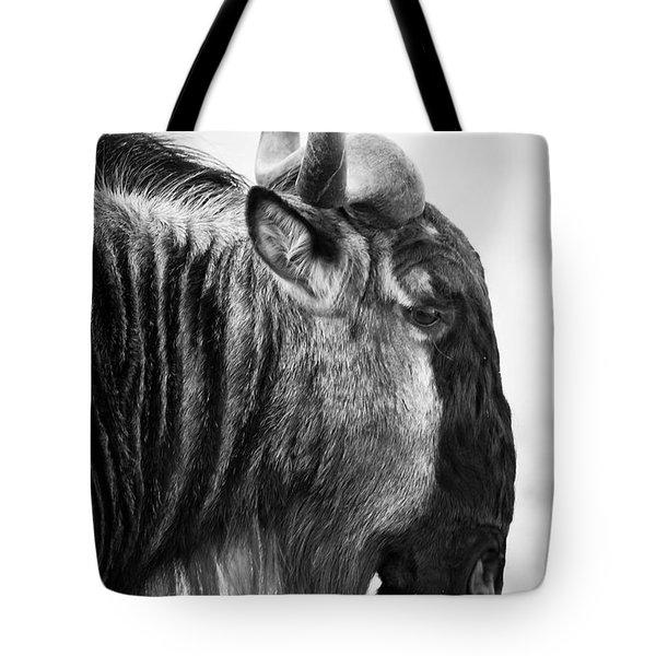 Wildebeest Tote Bag by Adam Romanowicz