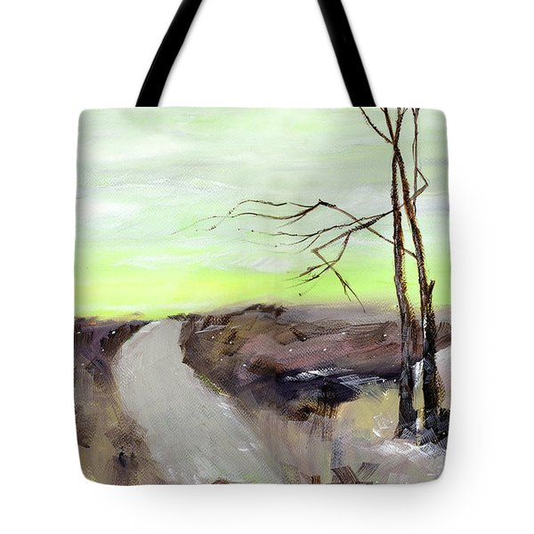 Tote Bag featuring the painting Wilderness 2 by Anil Nene