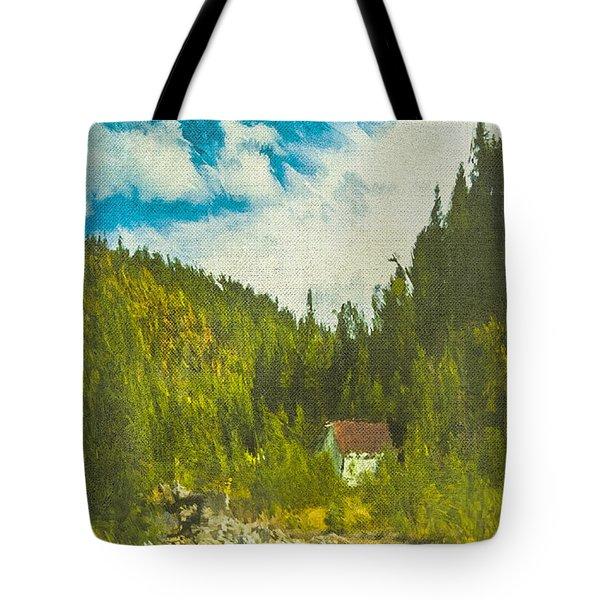 Wilderness Cabin Tote Bag by Dale Stillman