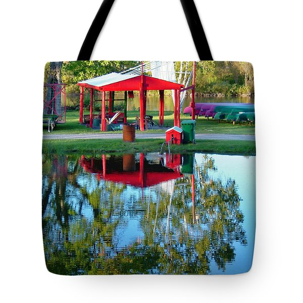 Wilderness Canoe Tote Bag