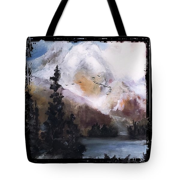 Wilderness Mountain Landscape Tote Bag