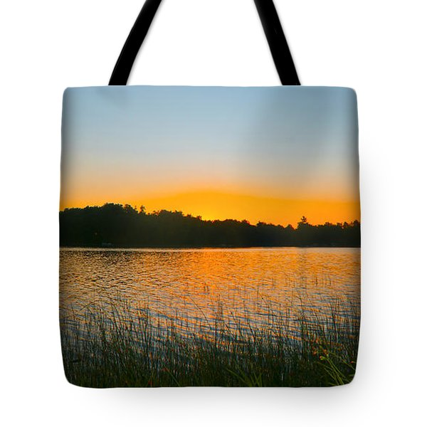 Wilderness Point Sunset Panorama Tote Bag by Gary Eason