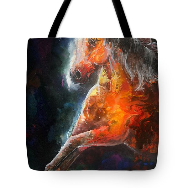 Wildfire Fire Horse Tote Bag