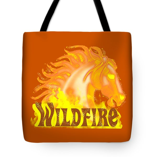 Tote Bag featuring the mixed media Wildfire by J L Meadows