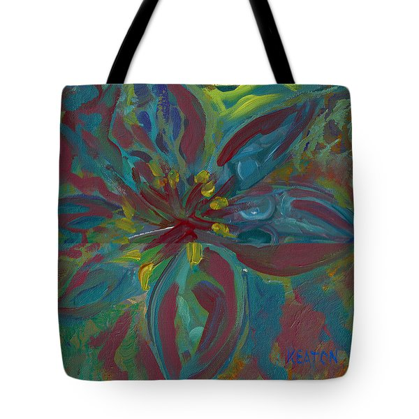 Tote Bag featuring the painting Wildflower 1 by John Keaton