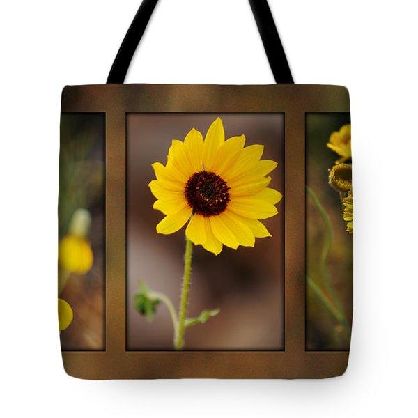 Wildflower 3 Tote Bag by Jill Reger