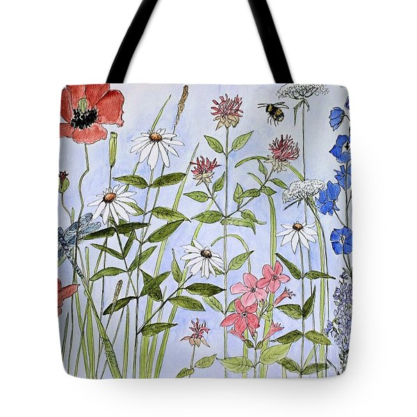 Wildflower And Blue Sky Tote Bag by Laurie Rohner