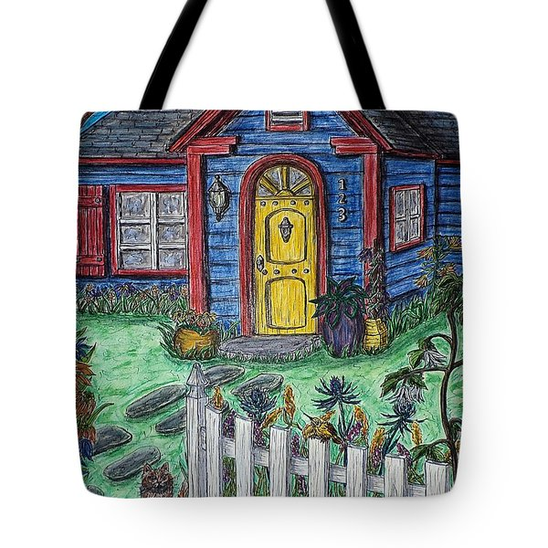 Wildflower Cottage Tote Bag