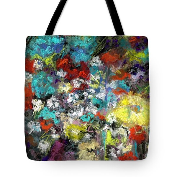 Wildflower Field Tote Bag by Frances Marino