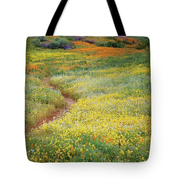 Tote Bag featuring the photograph Wildflower Field Near Diamond Lake In California by Jetson Nguyen
