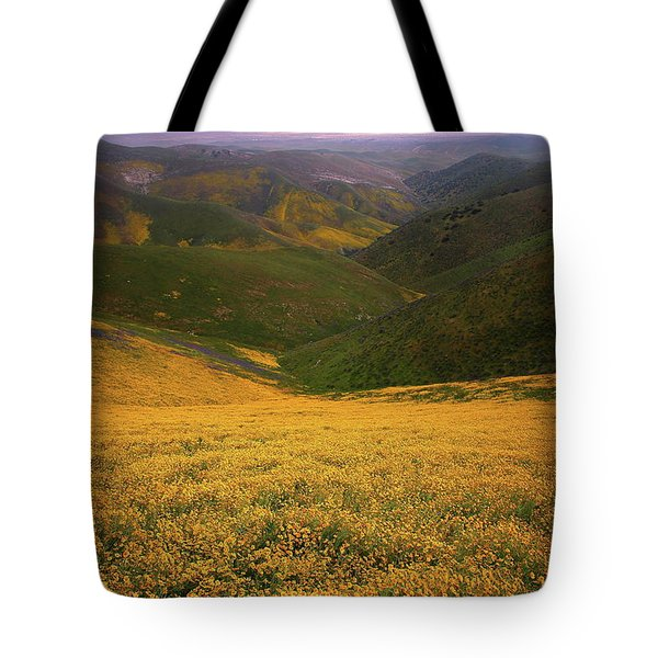 Wildflower Field Up In The Temblor Range At Carrizo Plain National Monument Tote Bag