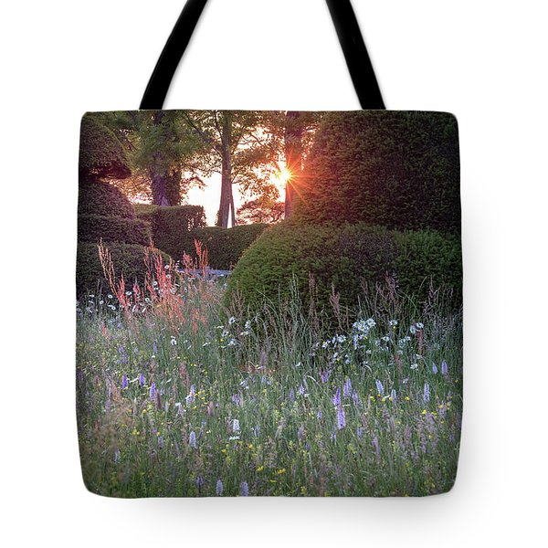 Wildflower Meadow At Sunset, Great Dixter Tote Bag