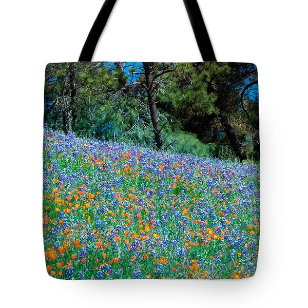 Tote Bag featuring the photograph Wildflower Meadow - Figueroa Mountains California by Ram Vasudev