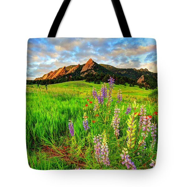 Wildflower Mix Tote Bag by Scott Mahon