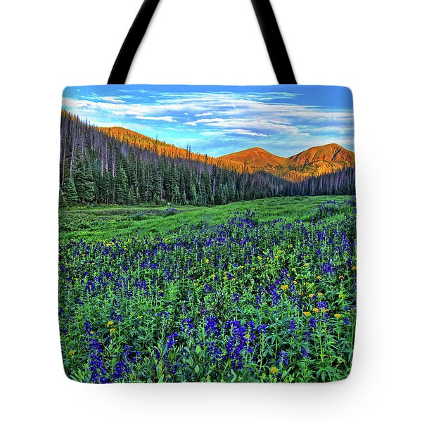 Tote Bag featuring the photograph Wildflower Park by Scott Mahon