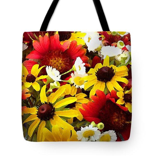 Wildflower Riot Tote Bag