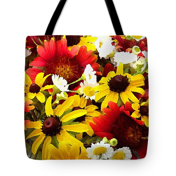 Wildflower Riot Tote Bag