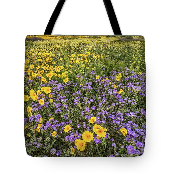 Tote Bag featuring the photograph Wildflower Super Bloom by Peter Tellone