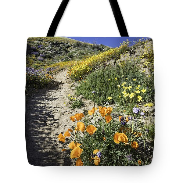 Wildflower Wash Tote Bag by Scott Cunningham