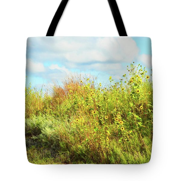 Tote Bag featuring the photograph Wildflowers Along A Country Road  Photography  by Ann Powell
