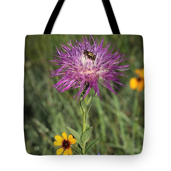 Tote Bag featuring the photograph Wildflowers And Friend by Sheila Brown