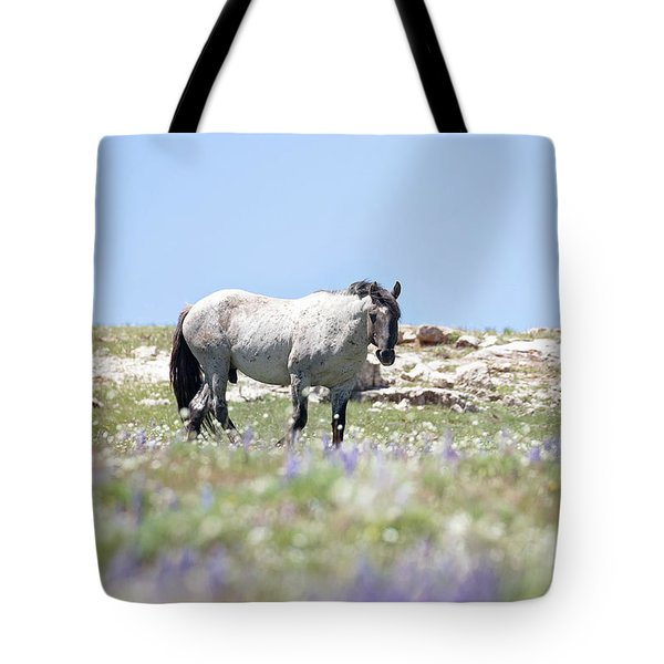 Wildflowers And Mustang Tote Bag