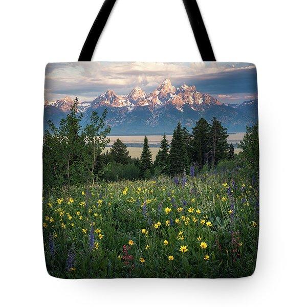 Wildflowers At Grand Teton National Park Tote Bag