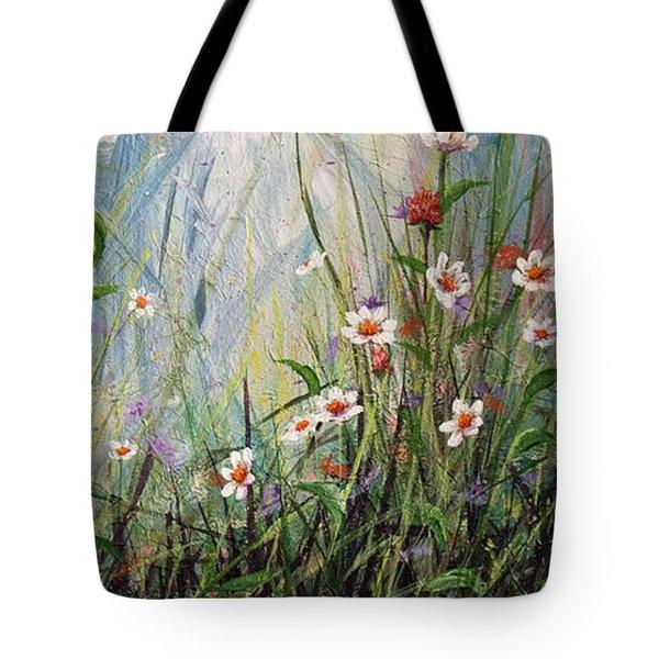 Wildflowers Tote Bag by Dee Carpenter