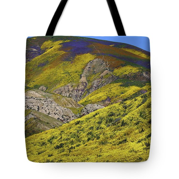 Wildflowers Galore At Carrizo Plain National Monument In California Tote Bag by Jetson Nguyen