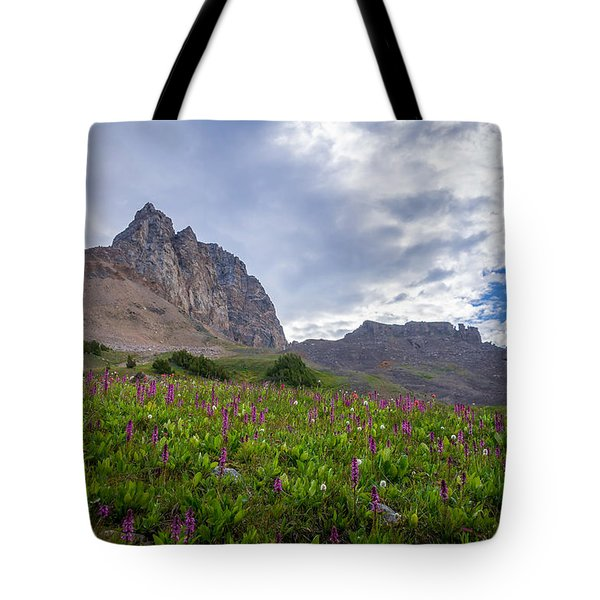 Tote Bag featuring the photograph Wildflowers In The Grand Tetons by Serge Skiba