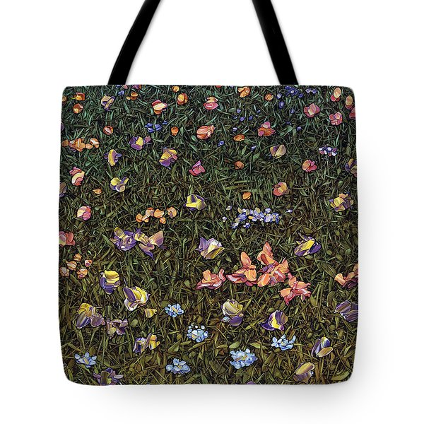 Tote Bag featuring the painting Wildflowers by James W Johnson