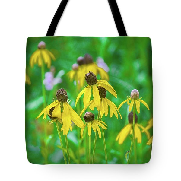 Tote Bag featuring the photograph Wildflowers Of Yellow by Bill Pevlor