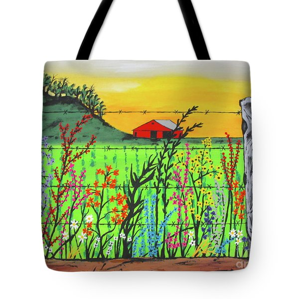 Wildflowers On The Farm Tote Bag
