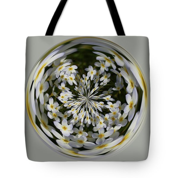 Tote Bag featuring the photograph Wildflowers Orb by Bill Barber