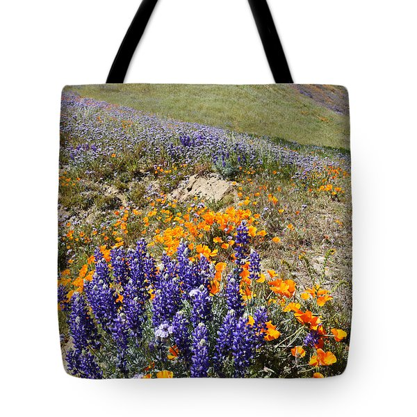 Wildflowers Portrait 2 Tote Bag by Scott Cunningham