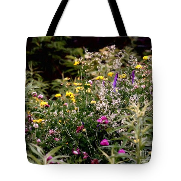 Tote Bag featuring the painting Wildflowers by Smilin Eyes  Treasures
