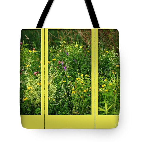 Tote Bag featuring the photograph Wildflowers Through A Window by Smilin Eyes  Treasures