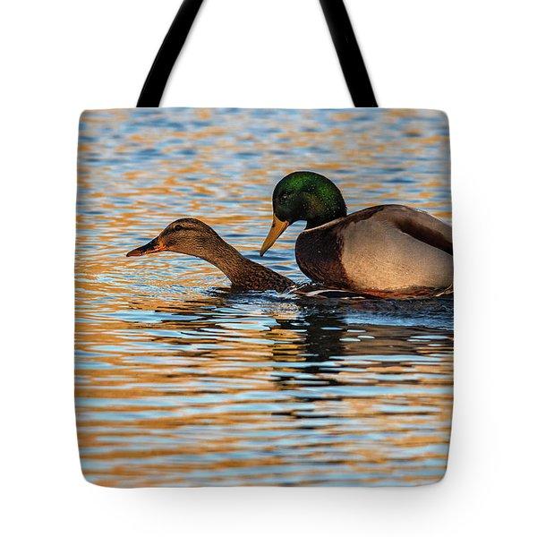 Wildlife Love Ducks  Tote Bag