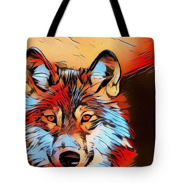 Wildlife Wolf 1 Tote Bag