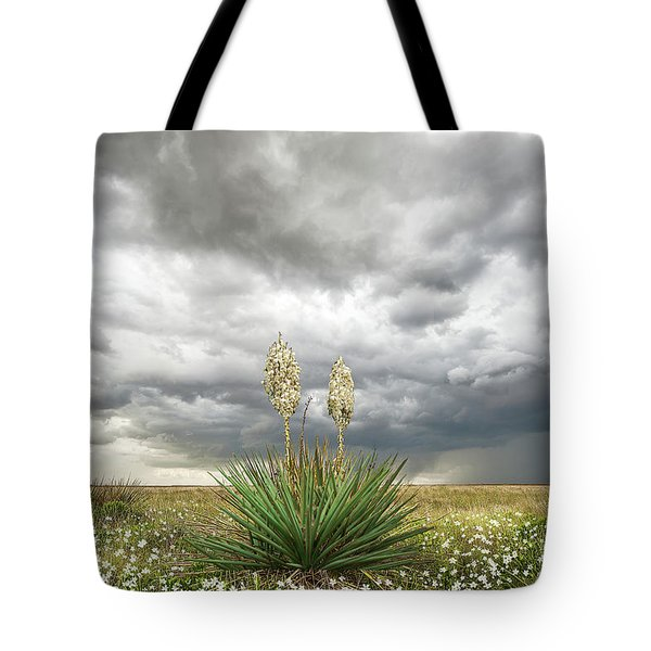 Tote Bag featuring the photograph Wildorado Yucca by Scott Cordell