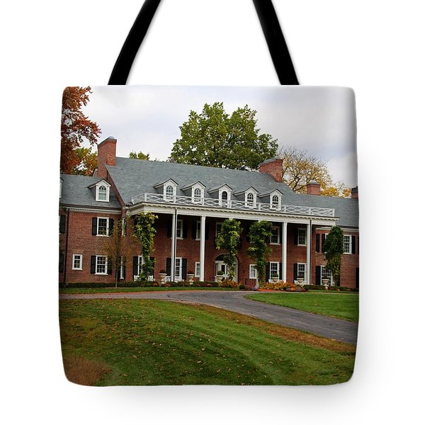 Wildwood Manor House In The Fall Tote Bag