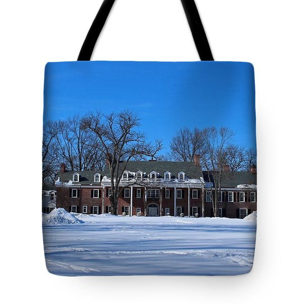 Wildwood Manor House In The Winter Tote Bag