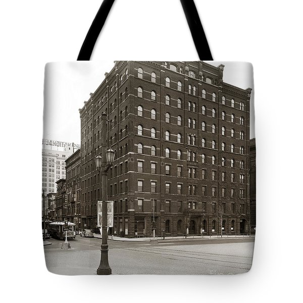 Wilkes Barre Pa Hollenback Coal Exchange Building Corner Of Market And River Sts April 1937 Tote Bag