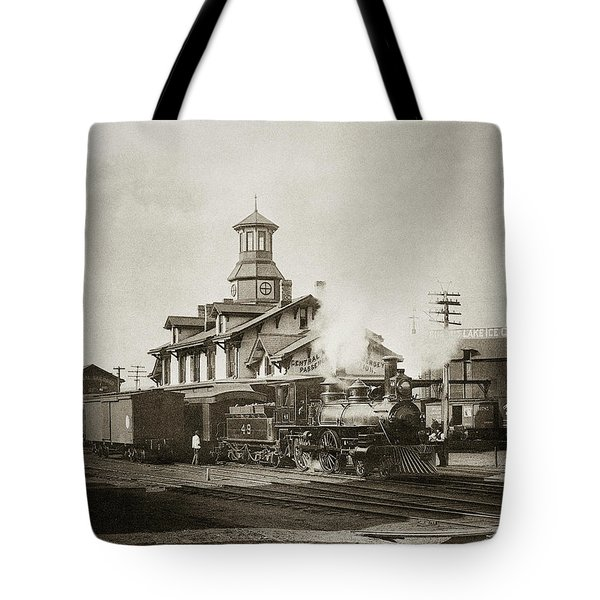 Wilkes Barre Pa. New Jersey Central Train Station Early 1900's Tote Bag