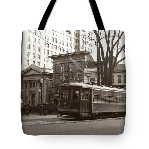 Wilkes Barre Pa Public Square Oct 1940 Tote Bag