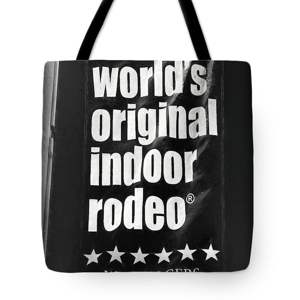 Will Rogers Rodeo Bw Tote Bag